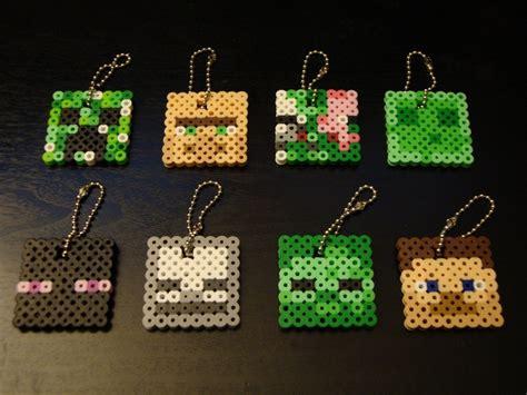 perler minecraft minecraft perler bead keychains perler