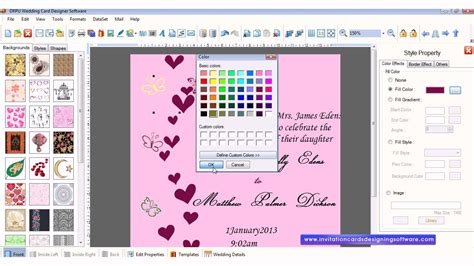 software for cards and invitations free wedding card designer software how to design wedding