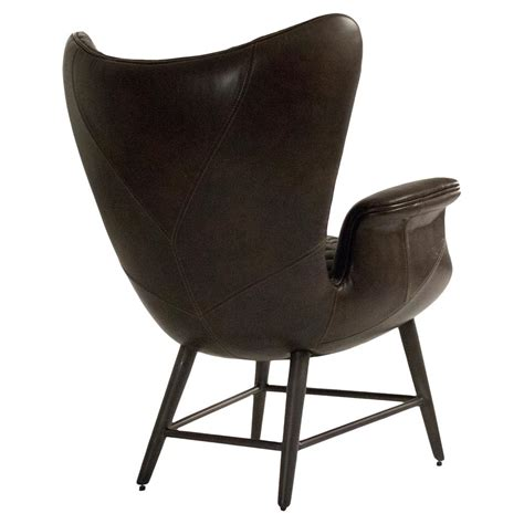 brown living room chairs volker industrial walnut brown leather highback living