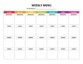 menu planner gone like rainbows