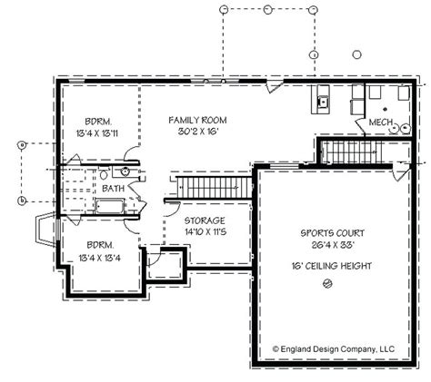 Home Floor Plans With Basement elegant 4 bedroom ranch house plans with walkout basement