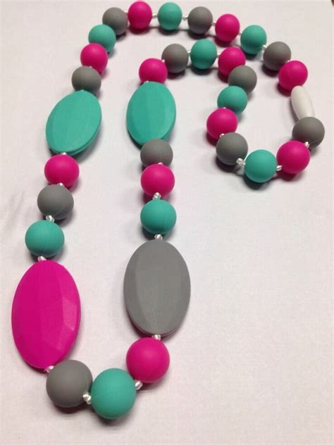 baby bead necklace baby and food silicone teething necklace