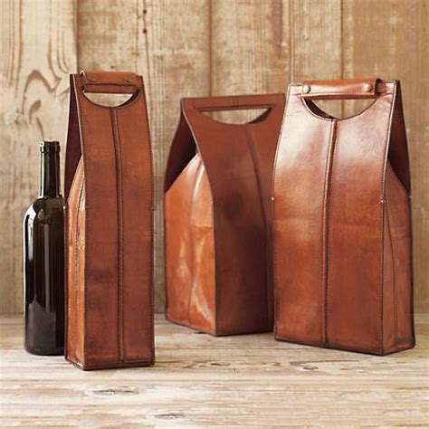 wine carrying leather leather wine bottle carriers brown packaging beautiful and ps
