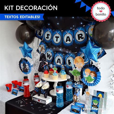 decoracion star wars star wars decoraci 243 n de fiesta para imprimir todo bonito