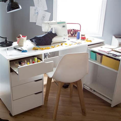 craft desk for south shore crea contemporary laminated particleboard