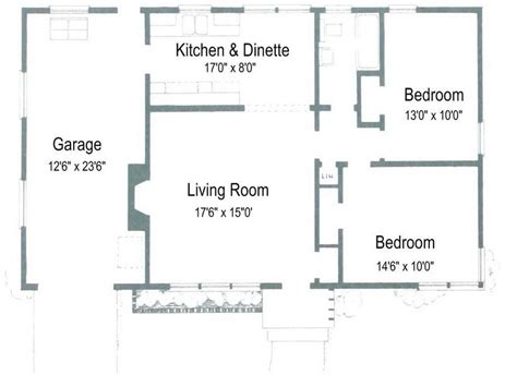 floor plan 1000 square foot house small house floor plans 1000 square cottage