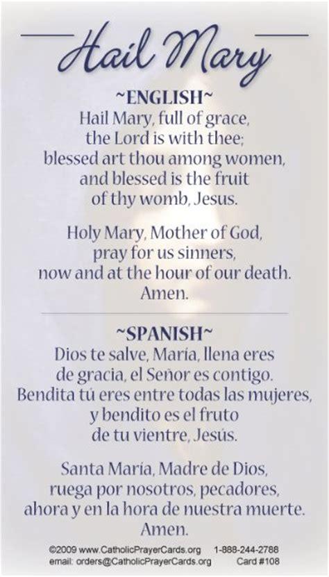 catholic prayer bilingual catholic prayer cards catholic church