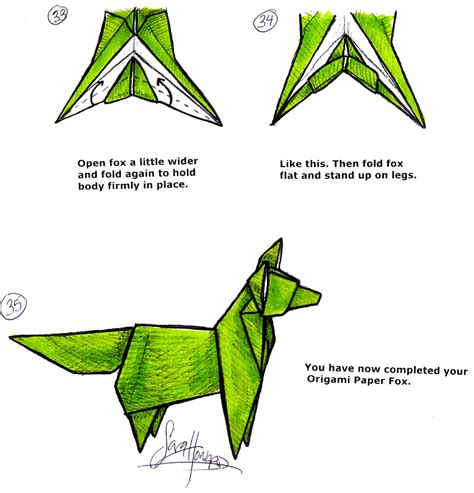 how to make a origami fox vcl matrices