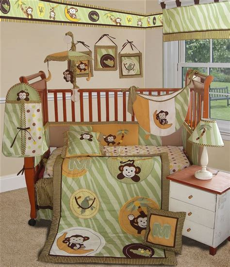 baby jungle bedding sisi jungle monkey crib bedding collection in green baby