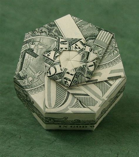 dollar origami box beautiful origami made of dollars by won park noupe