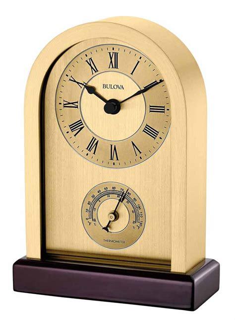 office desk clocks bulova b5008 harding desk and table clock the clock depot