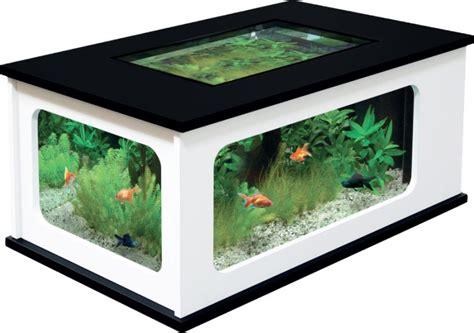 aquarium table basse pas cher noir et blanc 192 litres animaloo
