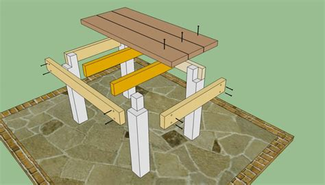 diy patio table plans patio table plans howtospecialist how to build step
