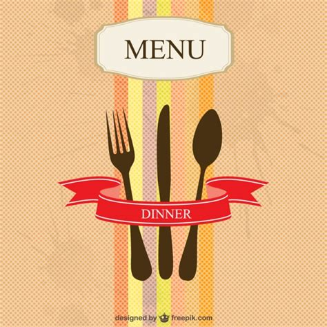 restaurant menu vector simple design vector free download