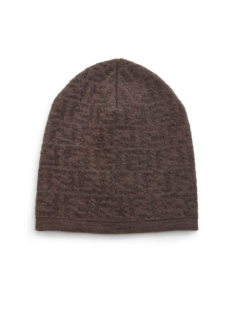 fendi knit hat fendi wool blend knit hat in for lyst