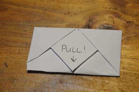 lined paper origami how to fold a horizontal pull tab note