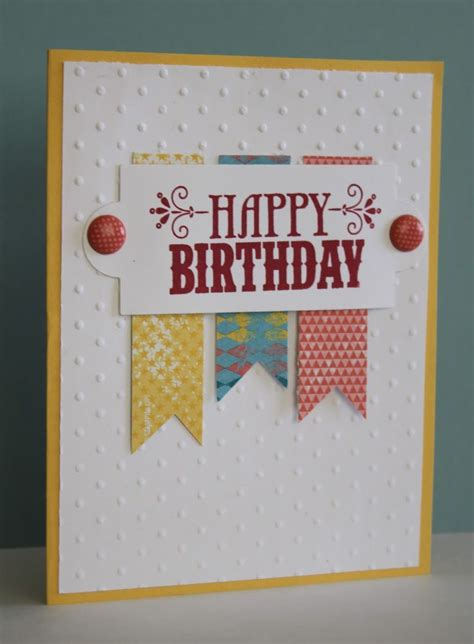 simple card for easy birthday card handmade cards