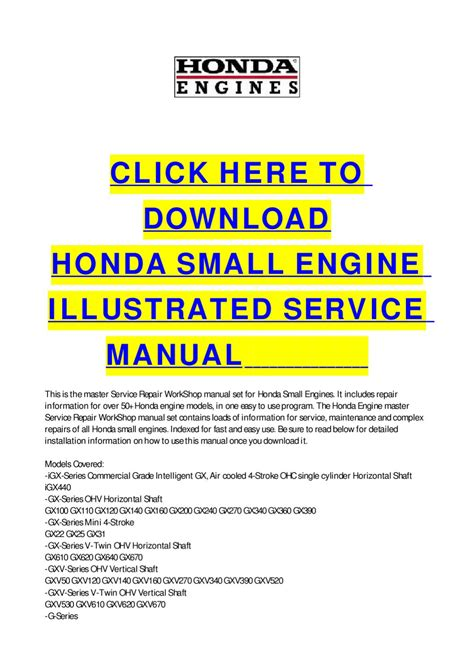 service manual small engine repair manuals free download 2008 lincoln mark lt on board honda small engine illustrated service manual by cycle soft issuu