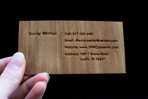 card cards dfw carpentry business cards design discovery