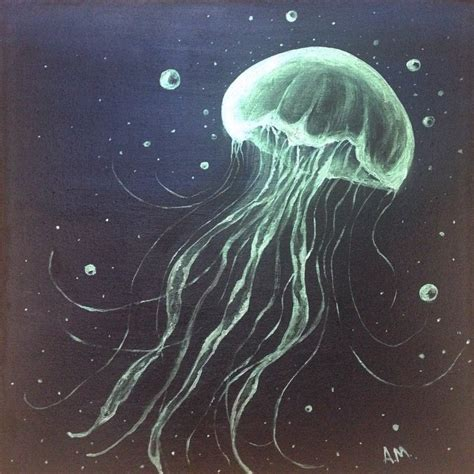 Jellyfish Painting Acrylic Monsanto