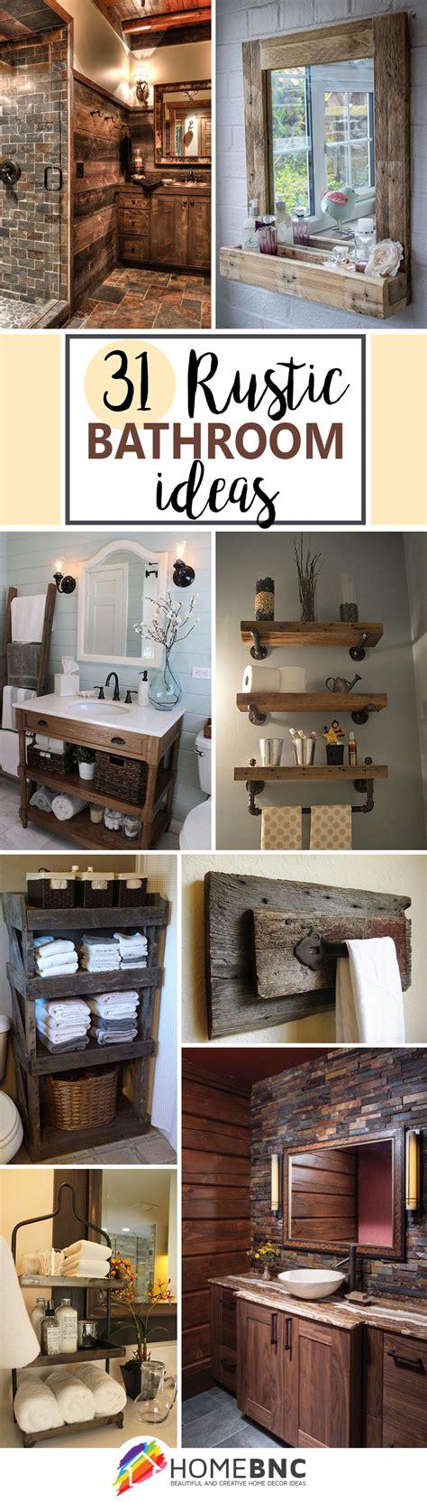 rustic decor ideas 31 best rustic bathroom design and decor ideas for 2016
