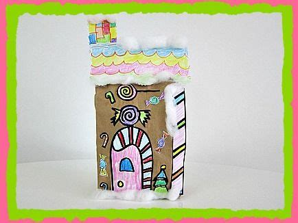 paper bag gingerbread house craft pin by boccella smith on bulletin board and school