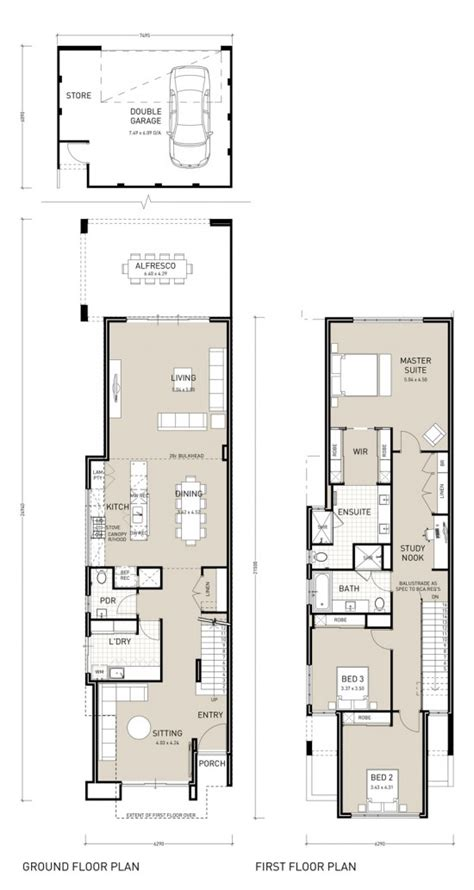 narrow homes floor plans floor plan friday narrow block storey