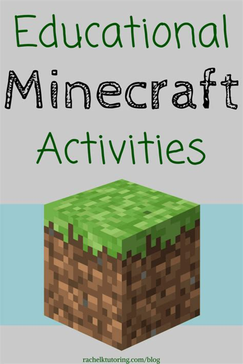 minecraft arts and crafts projects educational minecraft activities k tutoring