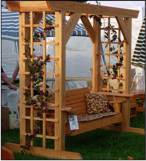 arbor swing plans free diy arbor with swing plans free