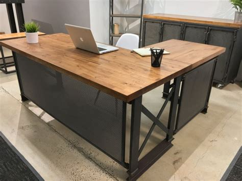 style office desk stylish desks with industrial designs and details