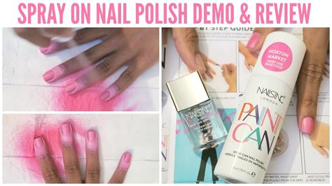 spray paint demo does it work nails inc paint can spray on nail