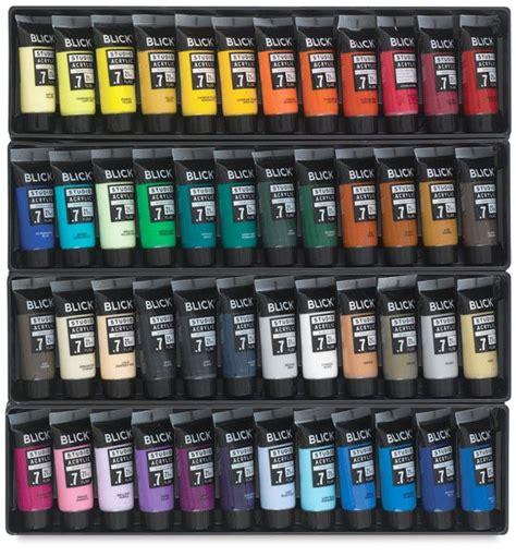 blick acrylic paint blick studio acrylic paints set of 48