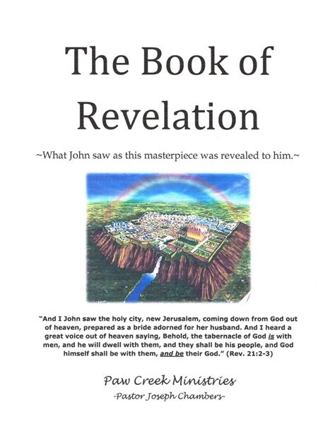 the book of revelation pictures notebook the book of revelation paw creek ministries
