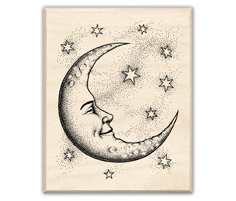 Inkadinkado Crescent Moon Rubber St 95194 123stitch