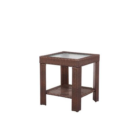 patio accent table hton bay beverly patio accent table 65 9102337 the