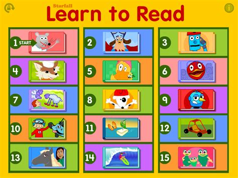read app starfall learn to read android apps on play