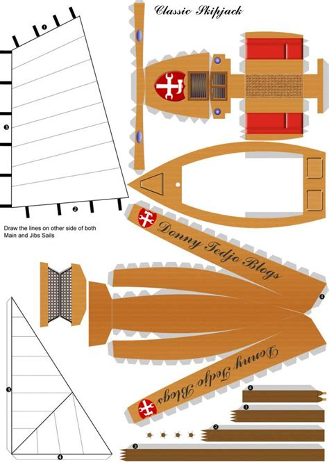 boat paper craft pics for gt boat papercraft template