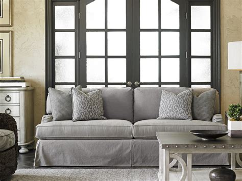 gray sofa slipcover oyster bay stowe slipcover sofa gray home brands