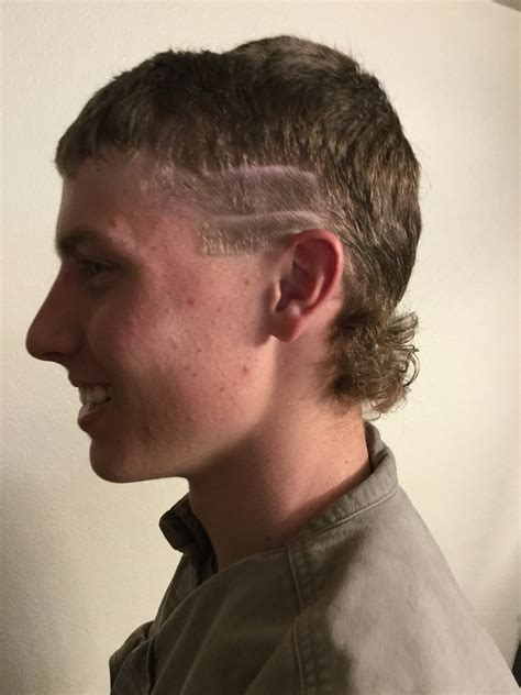 mullet haircut for boys men s cut racing stripes mullet our kinda style