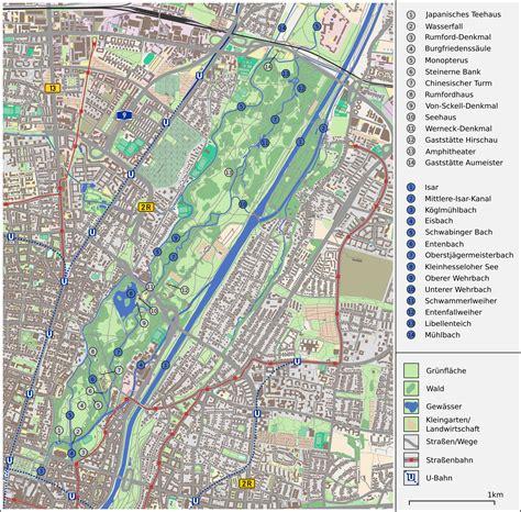 reiterhof englischer garten münchen file karte englischer garten m 252 nchen png wikimedia commons