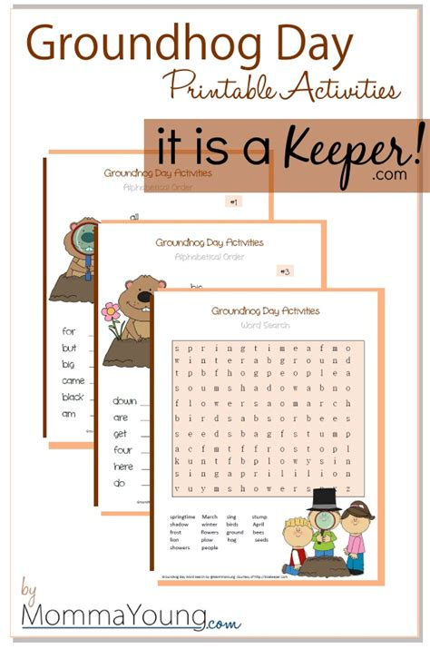 groundhog day activities groundhog day printable activities it is a keeper