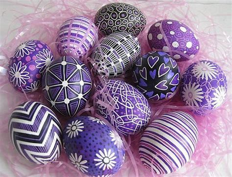 purple crafts for diy purple easter eggs