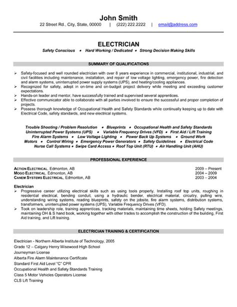 industrial electrician sample resume search results