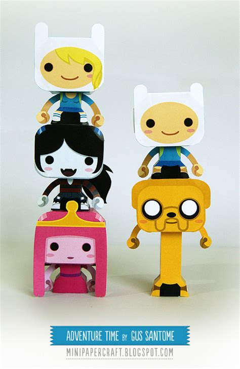 adventure time paper crafts adventure time mini papercraft by gus santome on deviantart