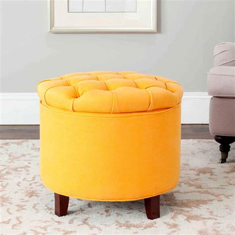 yellow leather ottoman great modern ottoman furniture yellow leather tufted