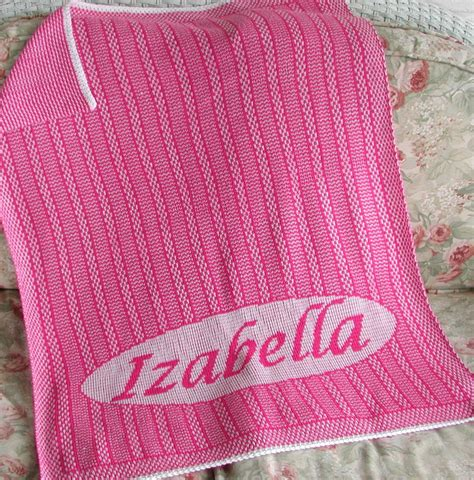 personalized knit personalized knit baby blanket