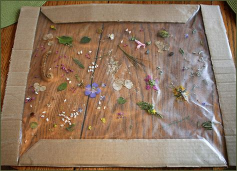 easy nature crafts for easy framed nature collage family crafts