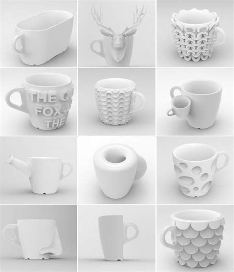 3D printed coffee mugs.   3D Printed Creations   Pinterest