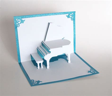 how to make 3d greeting card grand piano 3d pop up greeting card handmade cut by