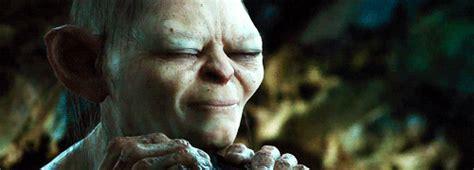 the hobbit gifts 1k the hobbit gollum andy serkis newgifs thehobbit q i m